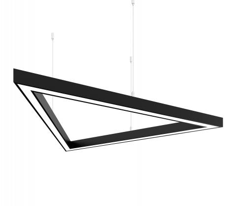Светодиодный светильник  Z-LED 150Вт Треугольник чёрный (3x1080) LSNTri-150b