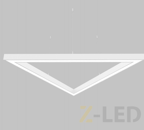 Светодиодный светильник  Z-LED 90Вт Треугольник белый (3x680) LSNTri-90w