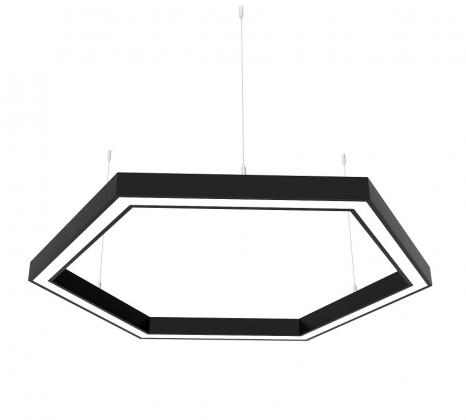 Светодиодный светильник Z-LED 120Вт шестиугольник черный (6х430) LSNH-120b