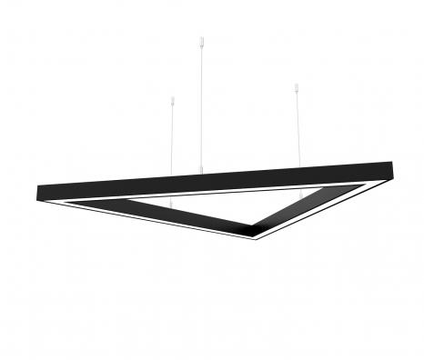 Светодиодный светильник  Z-LED 90Вт Треугольник чёрный (3x680) LSNTri-90b