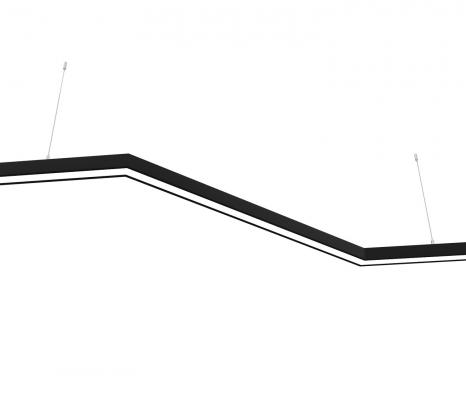 Светодиодный светильник  Z-LED 80ВТ Z-образный черный (Зигзаг) (400х800x400) LSNZ-80b